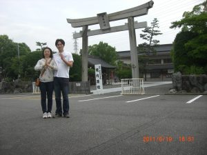 子宝祈願で桃太郎神社へ