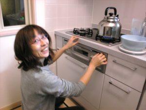 新しいキッチンで庸子喜んでたね^-^